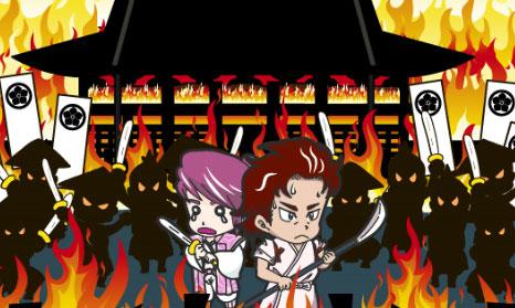 燃え盛る本能寺からの脱出