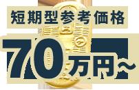 短期型参考価格 80万円~