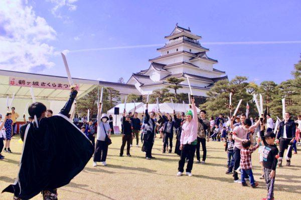 親子で鶴ヶ城にてリアル合戦を開催!まぼろしの会津若松合戦の開催レポート
