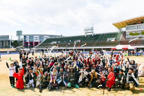 【楽天ゴールデンイーグルスのイベントにてチャンバラ合戦を開催】スポーツイベントとの相性抜群!!