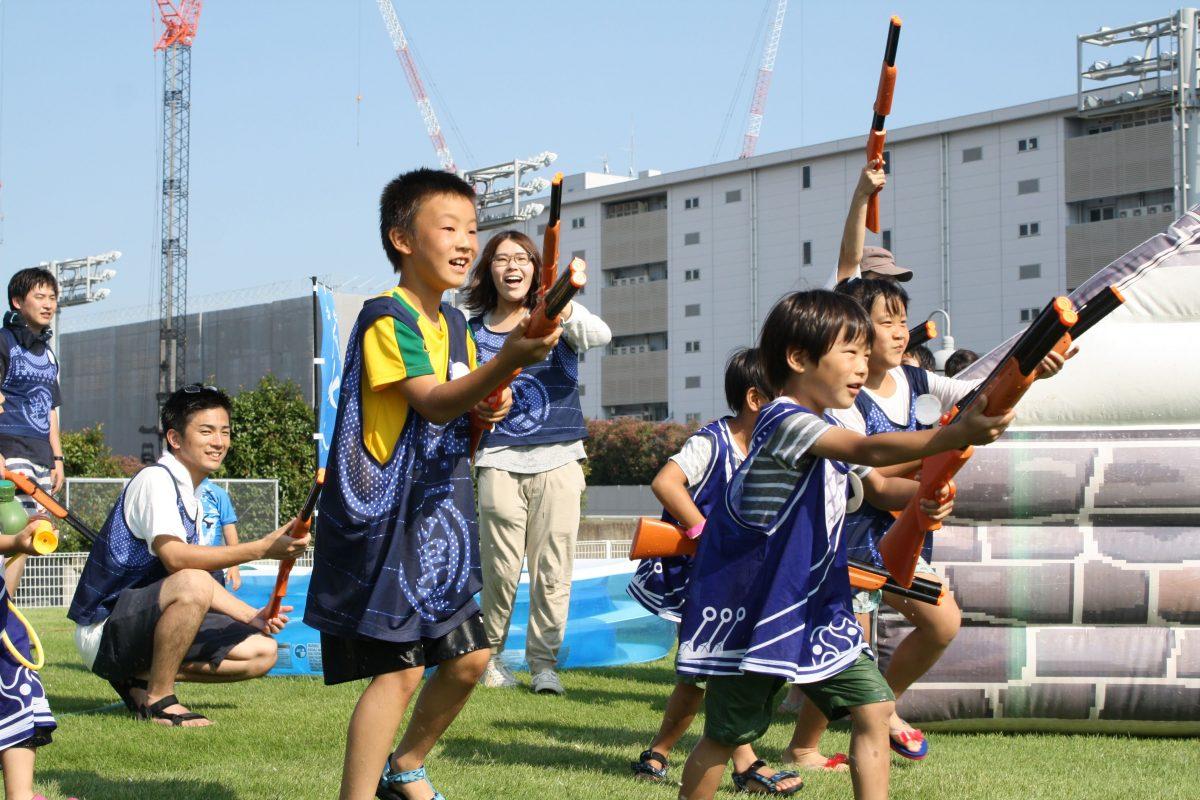 【開催レポート】夏本番!川崎競馬場で水合戦が大盛り上がり!