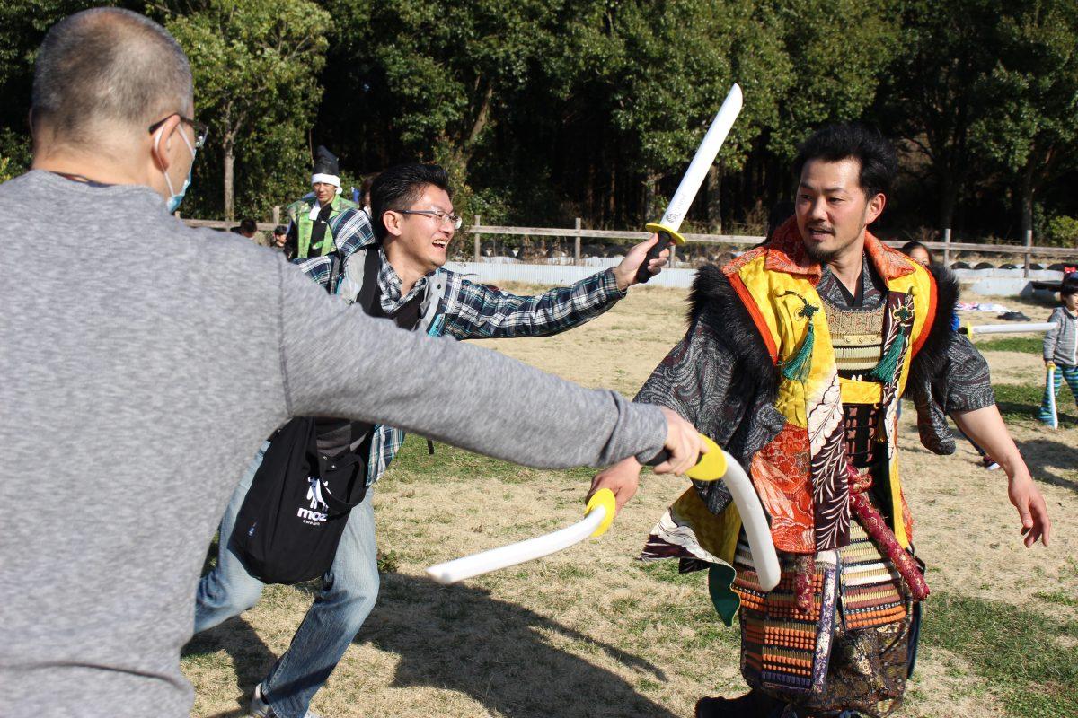 【開催実績】20周年記念!こもれび森のイバライドで春のチャンバラ合戦!